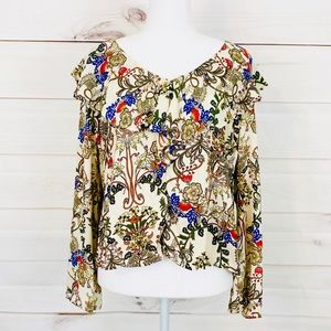 💕🌵ANTHROPOLOGIE W5 Patterned Blouse Size Small